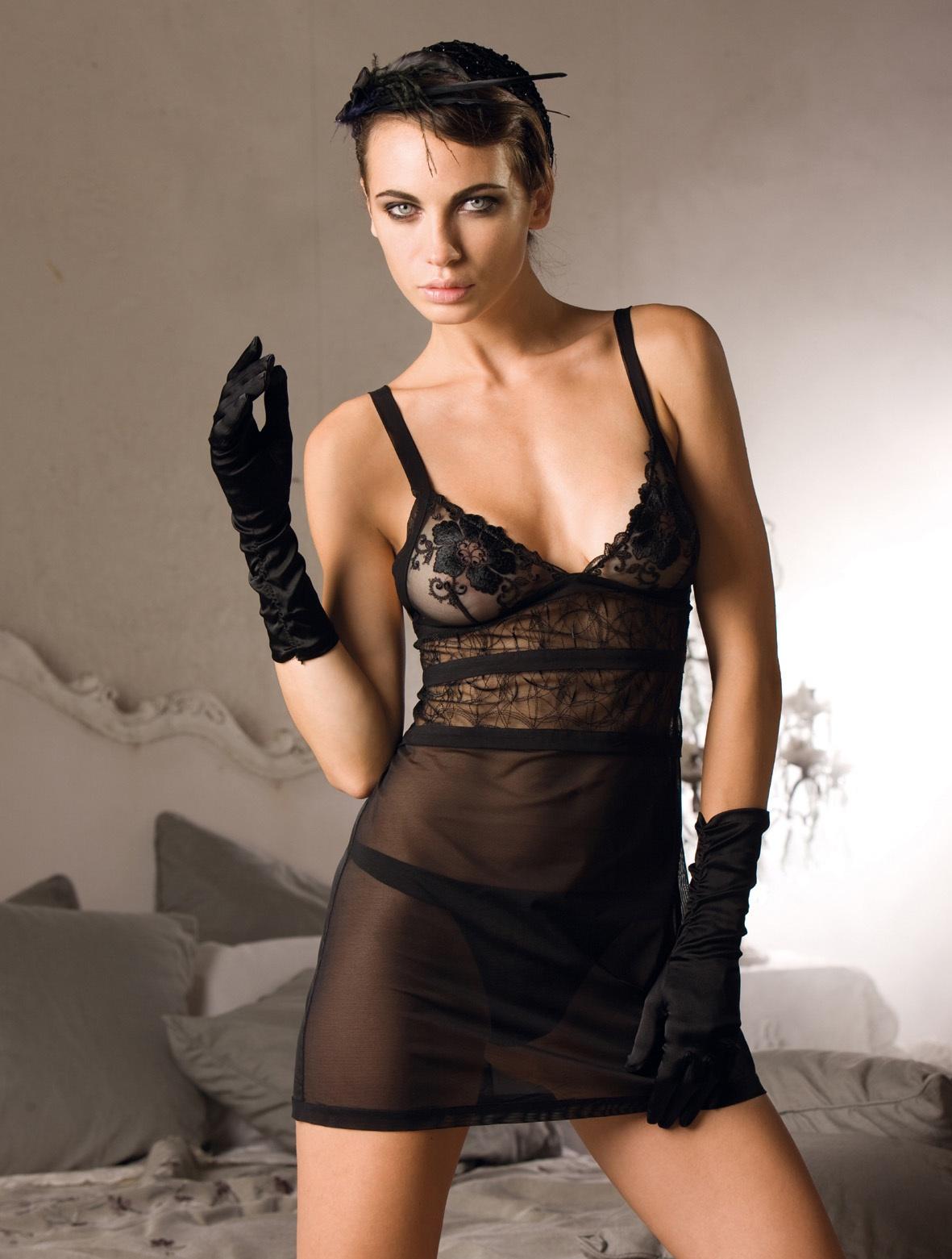 Прозрачное черное белье 13 фотография