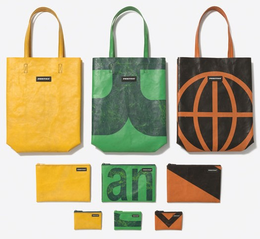 borse con materiale di riciclo